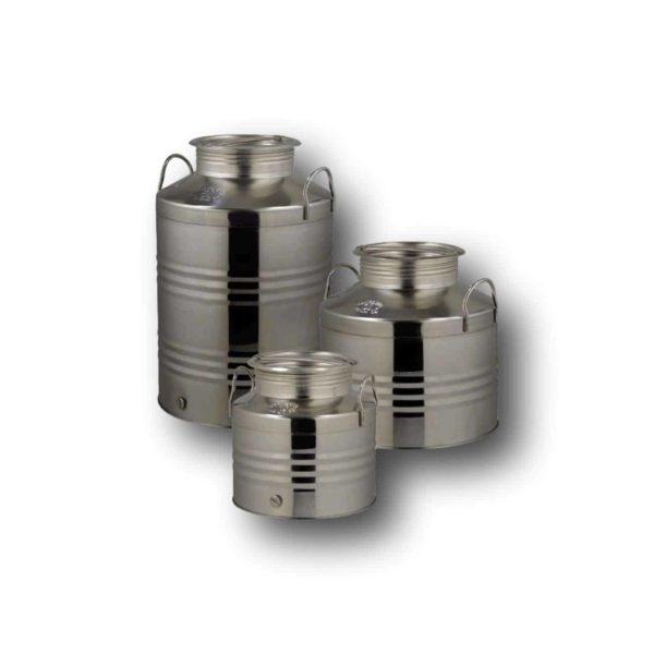 Ανοξείδωτο δοχείο με βιδωτό καπάκι  Quattro Effe  | 100 lt