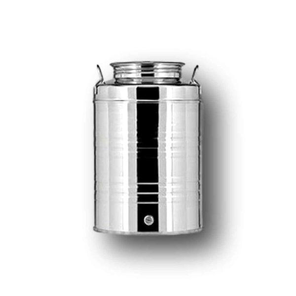Ανοξείδωτο δοχείο με βιδωτό καπάκι φαρδύ Quattro Effe  | 30 lt