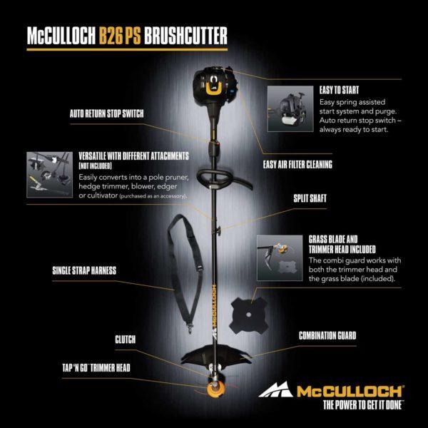 Θαμνοκοπτικό Πολυμηχάνημα McCullock B26 PS | 1 τμχ