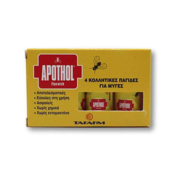 Κολλητική Μυγοπαγιδα Apothol Flychatch | 4 τμχ