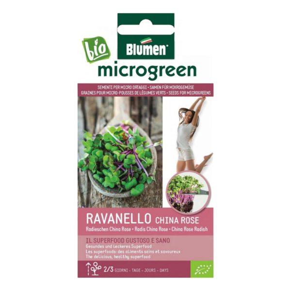Σπόροι Για Microgreens Ραπανάκι Ροζέ China Rose   40 gr