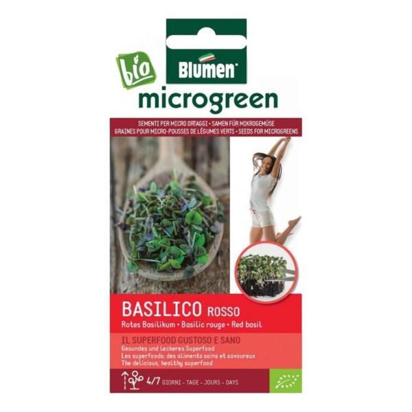 Σπόροι Για Microgreens Βασιλικό Κόκκινο Basilico Rosso   20 gr